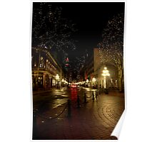 Gastown at Night Poster