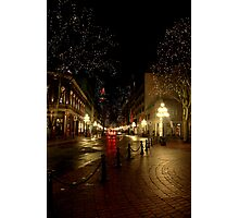Gastown at Night Photographic Print