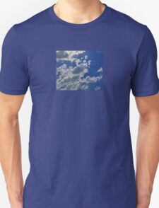 Sky Blue - Sweet Dreams Floating on Clouds Bedspread Pillow T-Shirt