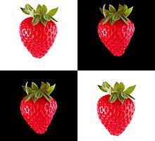 White & Black - Strawberries by Bryan Freeman