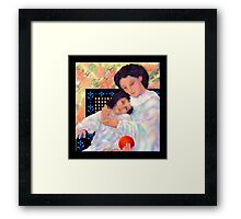 'Just Us Girls', A Mother and Daughter's Love  Framed Print