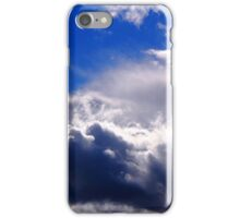 dramatic clouds in the blue sky iPhone Case/Skin