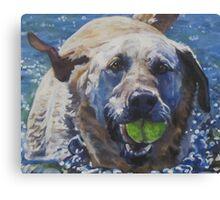 Labrador Retriever Fine Art Painting Canvas Print