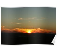 setting sun - over Perth Western Australia Poster