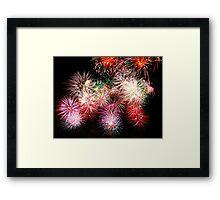 fireworks on a black background Framed Print