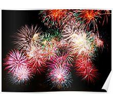 fireworks on a black background Poster