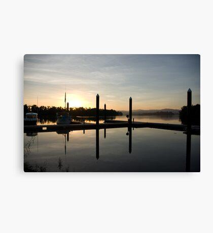 Tranquil Dawn ~ Johnstone River Moorings, Innisfail, Far North Queensland.  Canvas Print