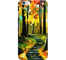 Stairway in The Old Park iPhone Case/Skin