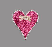Crafty Sweet Pink Love Heart by Artification