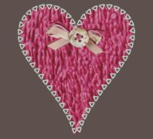 Crafty Sweet Pink Love Heart Kids Clothes