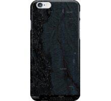 USGS Topo Map Oregon Mount Moriah 20110824 TM Inverted iPhone Case/Skin