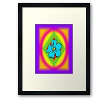 Flowers and rainbows Framed Print