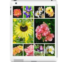 a floral collage iPad Case/Skin