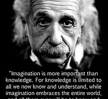 Albert Einstein Imagination by GodsAutopsy