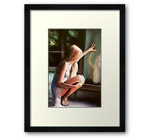 Through a Glass Darkly; pastels... . Framed Print