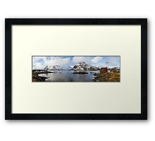 The Red Shed Panorama Framed Print