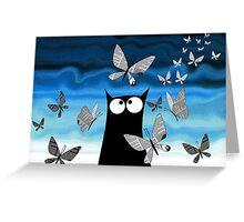 Paper Butterflies  Greeting Card