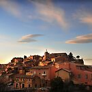 Village of Roussillon, Languedoc, Provence, France by Catherine Ames