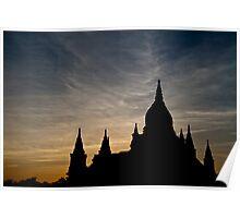 Bagan Temple at sunset Poster