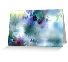Ice roses Greeting Card
