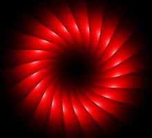 abstract red swirl design by Orderposter