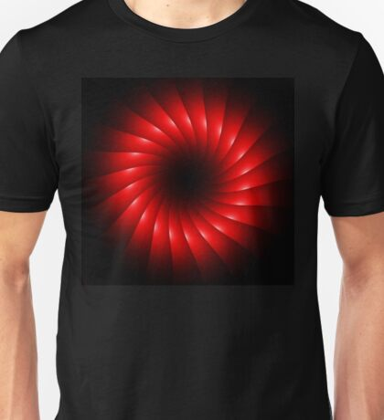 abstract red swirl design Unisex T-Shirt