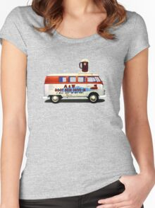 Custom VW Root Beer Camper Women's Fitted Scoop T-Shirt