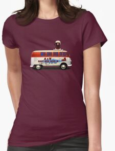 Custom VW Root Beer Camper Womens Fitted T-Shirt