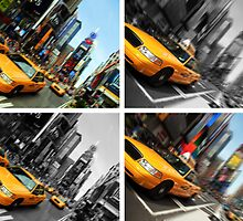 NYC Times Square. New York City Taxi. by upthebanner