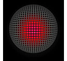 abstract red ball design Photographic Print