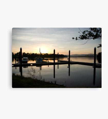 Sleepy Dawn - Johnstone River Moorings, Innisfail, Far North Queensland.  Canvas Print