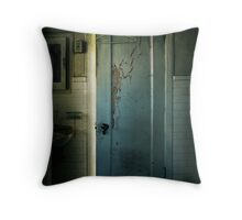 Behind Closed Doors Throw Pillow
