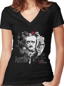 Horrible sanity... Women's Fitted V-Neck T-Shirt