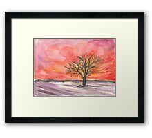 Red Winter Dreams Framed Print