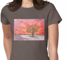 Red Winter Dreams Womens Fitted T-Shirt