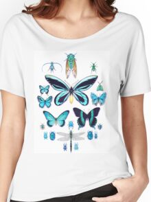 Teal Insect Collection Women's Relaxed Fit T-Shirt