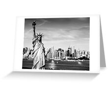 New York City Skyline in Black and White Greeting Card