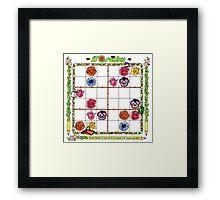 Flower garden Sudoku Framed Print