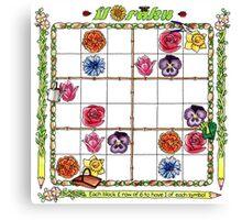 Flower garden Sudoku Canvas Print
