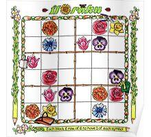 Flower garden Sudoku Poster