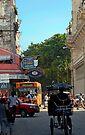 Street scene, The Floridita, Havana, Cuba by David Carton
