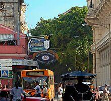 Street scene, The Floridita, Havana, Cuba by buttonpresser