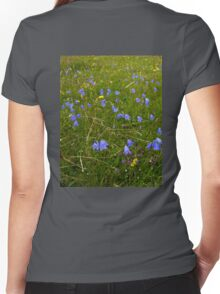 A sea of Harebells, Rossbeg, Co Donegal Women's Fitted V-Neck T-Shirt
