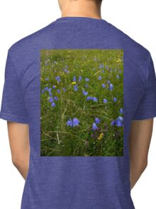 A sea of Harebells, Rossbeg, Co Donegal Tri-blend T-Shirt