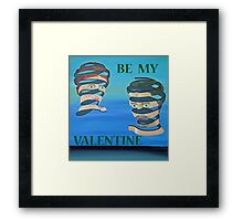 The Couple, Be My Valentine Framed Print