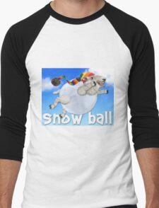 Snow Ball Men's Baseball ¾ T-Shirt