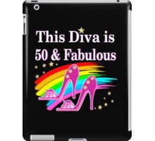 CHIC AND COLORFUL 50TH BIRTHDAY DESIGN iPad Case/Skin