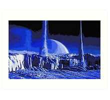 Nitrogen Geysers of Triton Art Print