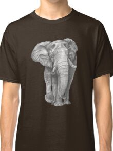 Elephant Drawing in Graphite Classic T-Shirt