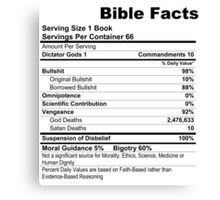 Bible Facts (stickers) Canvas Print